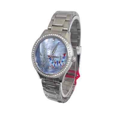 Hegner 600089 A Analog Jam Tangan Wanita - Silver