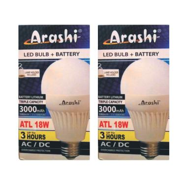Arashi Lampu LED Emergency - Putih [2 pcs/ 18 W]