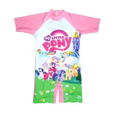 Nice Motif Little Pony Baju Renang ABG - Pink