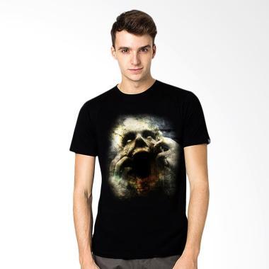 T-Shirt Glory Kaos 3D Face Hitam