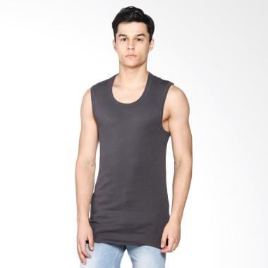 LGS Men Underwear Tank Top Pria - Dark Grey [1 Pcs] LETS-003-441-G-7C