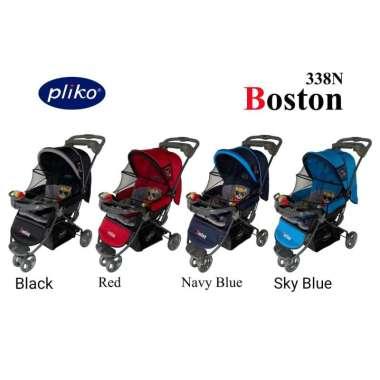 harga Pliko 338 N Boston Stroller Kereta Dorong Bayi Navy Blue Blibli.com