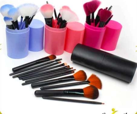 harga Brush Make Up Set 12IN1 Tabung / Kuas Makeup Set Kuas Alis Brush Highlighter Alat Kosmetik ONE-K29 Blibli.com