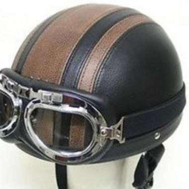 harga Kacamata Goggle Carting Aviator Aksesoris Motor Vespa, Scooter, Retro - transparan Blibli.com