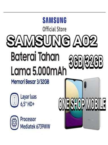 Samsung Galaxy A02 3/32GB Battery 5000mAh Garansi Resmi gray