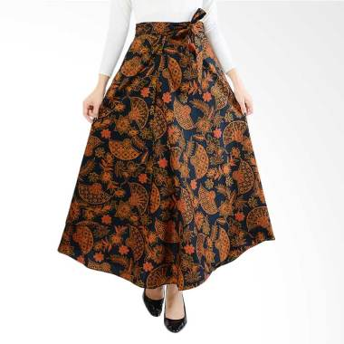 Jo & Nic Wrapped A Line Batik Long Skirt Wanita All Size