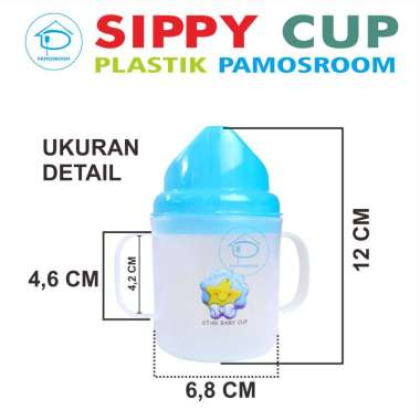 harga Pamosroom Botol Susu Bayi Sippy Cup Plastik Jadul Botol Minum Baby Food Grade BPA FREE Hijau Blibli.com