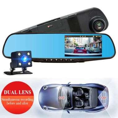 harga Dashcam cctv mobil 3 lensa 1080p full hd kamera mundur parkir belakang monitor 4inc Blibli.com