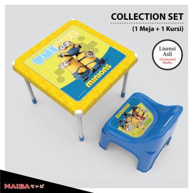 Naiba Minions Collection Set Meja dan Kursi Belajar Anak