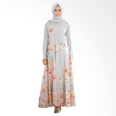 Yumna Sabrina Dress Muslim Wanita - Abu