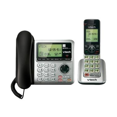 harga VTech Telephone CS6649 DECT 6.0 Corded and Cordless Phone with Answering System Blibli.com