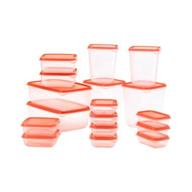 Ikea Pruta Set Tempat Makanan - Orange [Isi 17]