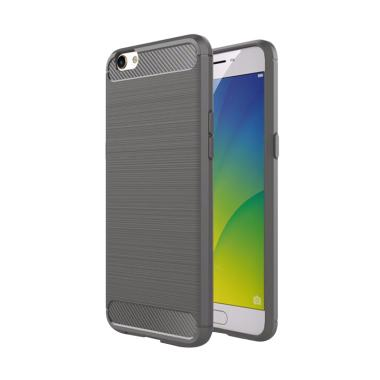 Viseaon Carbon Brushed TPU Rubber S ... rey + Free Tempered Glass