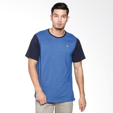 Hurley DF Snapper Crew T-Shirt - Gym Blue MKT0006210 4LB