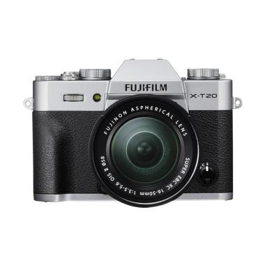 Fujifilm XT20 Silver Kit 16-50mm Fr ...  SDHC 32GB* GARANSI RESMI