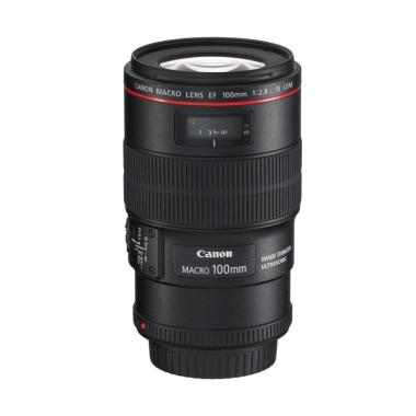 Canon EF 100mm F/2.8 L IS USM Macro Lensa Kamera
