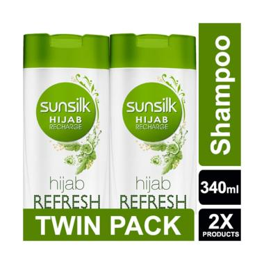 SUNSILK Hijab Recharge Shampoo Hijab Refresh [340 mL/ Twin Pack]
