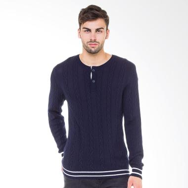 Knitwork Cable Knit Sweater Pria - Navy