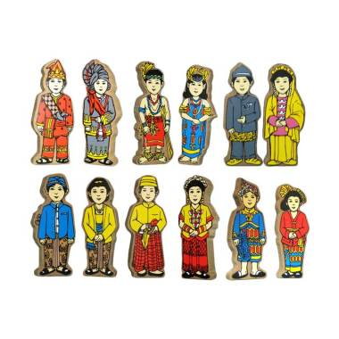 Chateda Toys Aksesoris Balok Boneka Pakaian Adat (12 pcs)