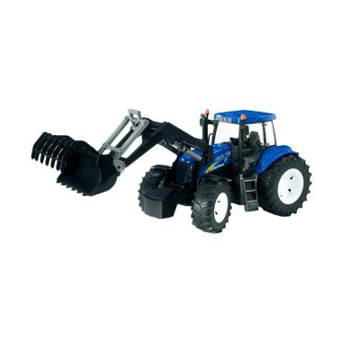 Bruder Toys 3021 New Holland T8040 with Front Loader Mainan Anak