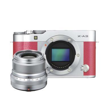 Fujifilm X-A3 Pink with XF 23mm F/2 R WR OIS II Silver