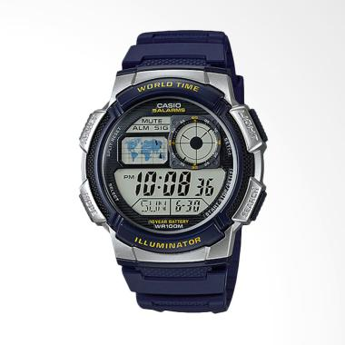 CASIO AE-1000W-2AVDF Blue Resin Ban ...  Silver [10 Year Battery]