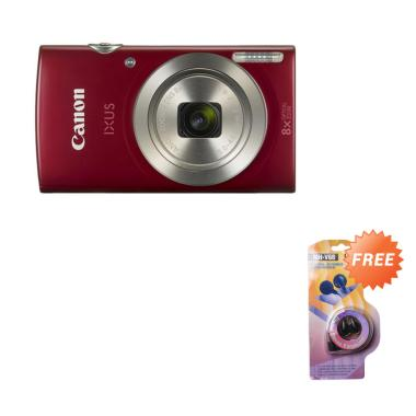 Canon IXUS 185 Kamera Pocket - Red  + Free Earphone
