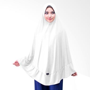 Milyarda Hijab Khimar Ihrom  Hijab Instan - Putih