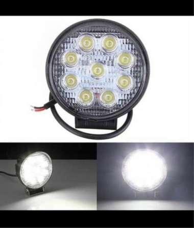 harga Lampu Tembak Worklight cree Led Bulat 9 mata 27 watt Offroad Motor Mobil waterproof universal Blibli.com