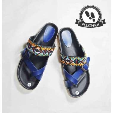 harga Sandal wanita batik PY188 selop wedges cewek motif kayu - Biru 37 Blibli.com