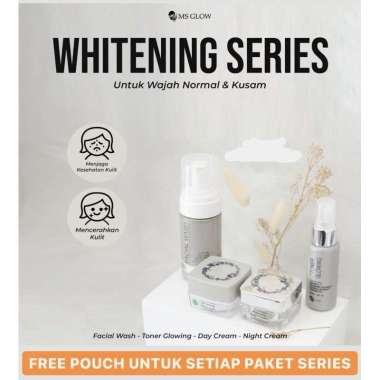 harga PAKET WHITENING MS GLOW Beauty Skincare Kosmetik Perawatan Wajah ORIGINAL Blibli.com