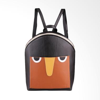 Baghani Tas Owl City Backpack Wanita - Black