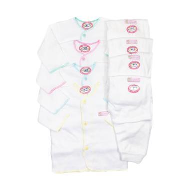 Luvita Setelan Baju Panjang dan Cel ... i - Putih [4 Set/Newborn]
