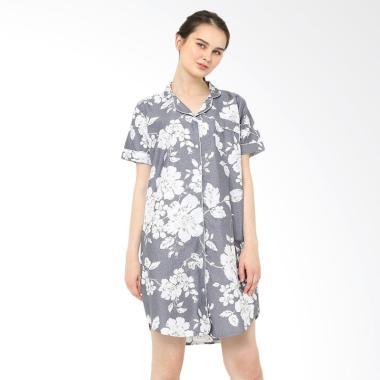 Madeleine Lilac Sleepshirt Baju Tidur Wanita - Grey