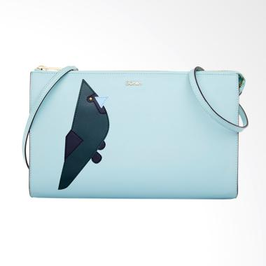 Bonia Ice Continga Pouch Clutches Bags - Blue