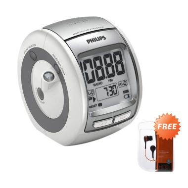 PHILIPS AJ3700 Alarm Clock + Free ACME Stereo Earphone