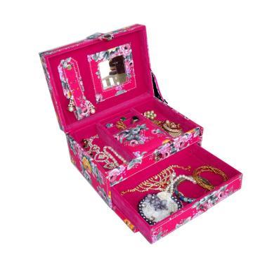 Bakul Etnik Motif Shabby Kotak Perhiasan Mini - Fanta