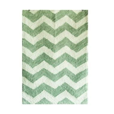 Vision Soft Shaggy Chevron Karpet - Green Pastel Bluish [160 x 220 cm]