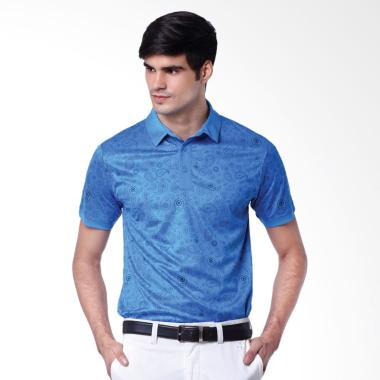 Svingolf Paisley Polo Golf Kaos Pria - Dusk Blue