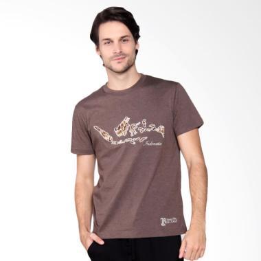 Batik Heritage Indonesia T-Shirt Kaos Pria - Brown