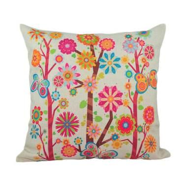 Hermosa Home Decor Flower Garden Bantal Sofa [45 x 45 cm]