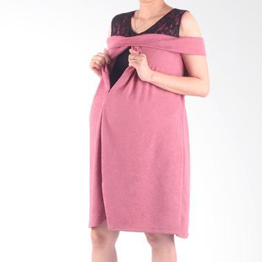 Hmill D1341 Dress Baju Hamil - Pink