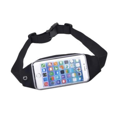 Anylinx Sport Belt Zipper Touch Waterproof Waist Bag for iPhone 6 - Black