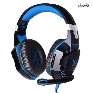 harga Baru Headphone - Kotion Each G2000 Gaming Headset Super Bass with LED Light - Biru Limited Blibli.com