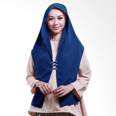 Cotton Bee Hoodie Rina Nose Jilbab Instant - Blue