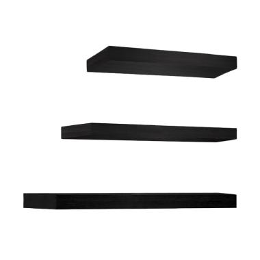 Promo Set Floating Shelves Rak Dinding Melayang - Black