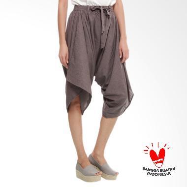 Benangsari Shanti Draped Pants Celana Wanita - Cokelat