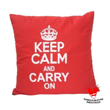 Stiletto In Style Keep Calm Carry On Cushion Cover