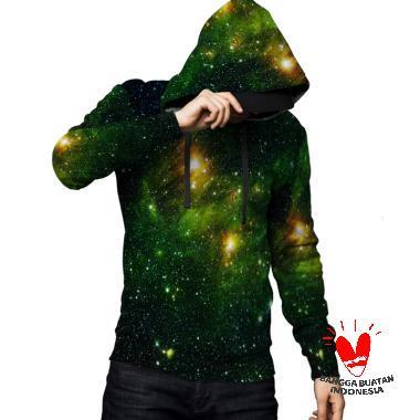 Fika Tema GALAXY 3D Full Print Subl ... Jaket Hoodie Sweater Pria