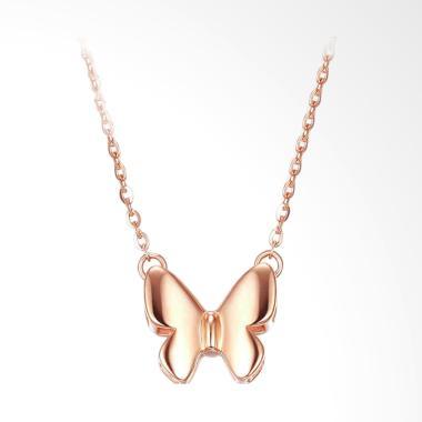Tiaria Radiant Butterfly Perhiasan Emas Kalung Wanita [18K]